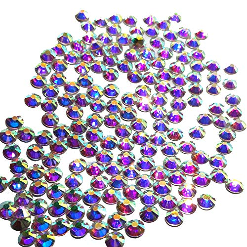 288pcs 30ss 6mm Rhinestones Nail Crystals AB Nail Art Rhinestones Round Flatback Glass Gems Stones Beads for Nails Decoration Crafts Eye Makeup Clothes Shoes Vases (288pcs ()