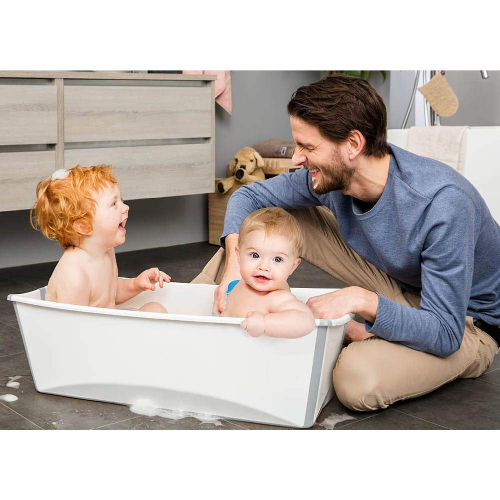 Transparent Blue Stokke Flexi Bath X-Large