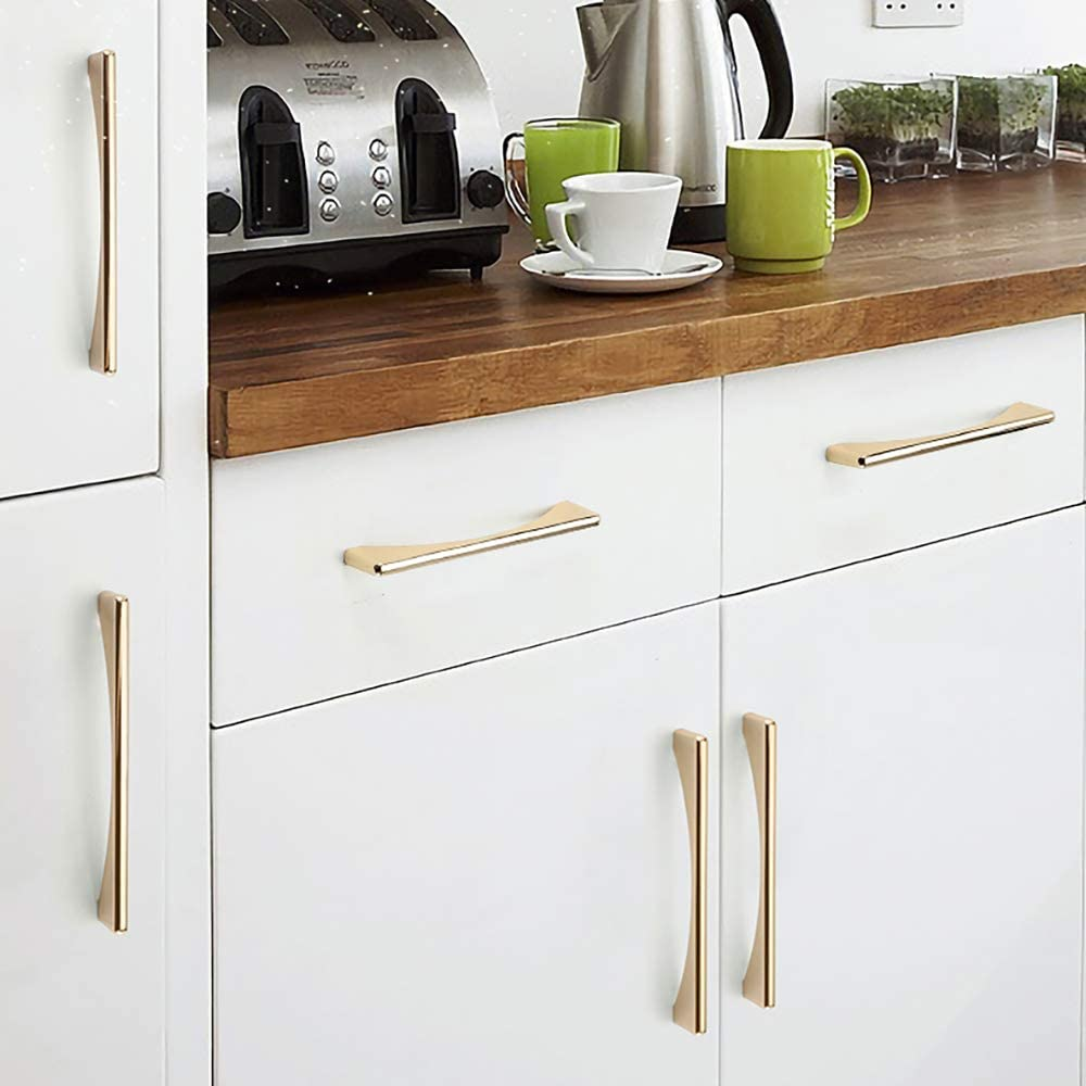 BH1967-10 piezas Tirador de cocina con tornillos de aleaci/ón de zinc tirador de puerta para cocina muebles de dormitorio caj/ón