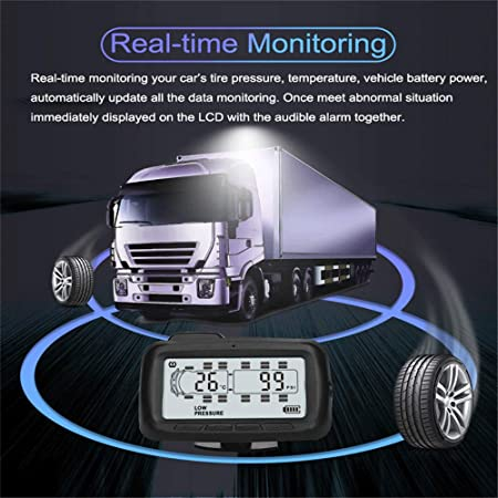 Rf Wireless Auto Tpms Tire Pressure Monitoring System Farb Lcd Display Mit Repeater 8 Externer Sensor Für Rv Oder Anhänger Auto