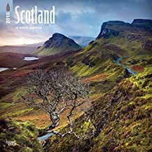 Scotland 2018 12 x 12 Inch Monthly Square Wall Calendar, UK United Kingdom Scenic (Multilingual Edition)