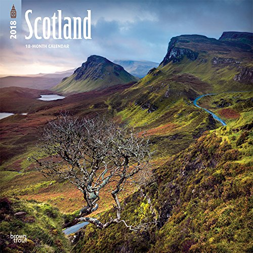 Scotland 2018 12 x 12 Inch Monthly Square Wall Calendar, UK United Kingdom Scenic (Multilingual Edition) (Photos Scenic Featuring Calendar)