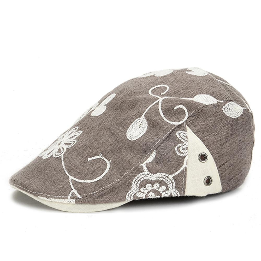 Fashion and Leisure Outdoor Sports Embroidery Craft Adjustable Womens Berets