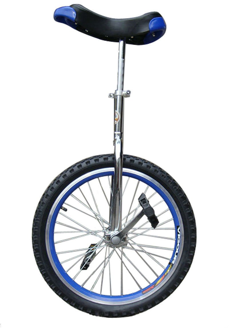Brand New 20'' in & Out Door Chrome Unicycle in Blue by Exercise Bikes (Image #1)
