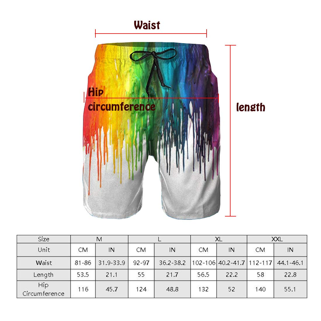 Four Size Quick Dry Beach Surfing Running Swimming Shorts PTYHR Mens Swim Trunks
