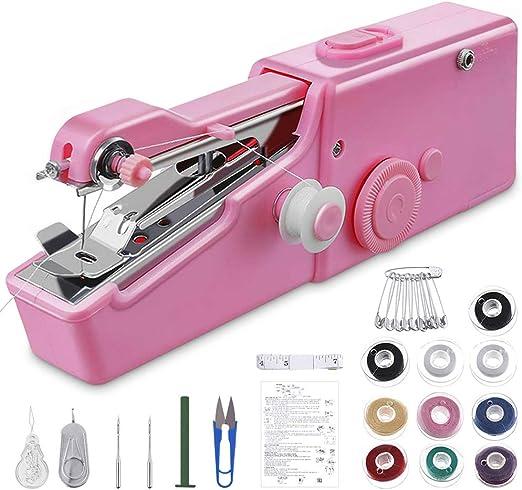 GEYUEYA Home - Máquina de coser a mano, pequeña máquina de coser ...