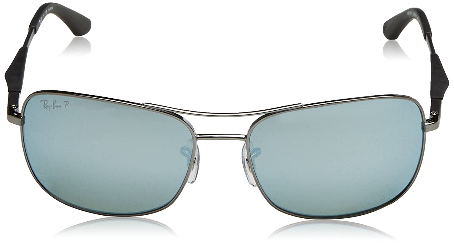 Amazon.com: Ray-Ban Mens 0rb3515004/y461steel Man Sunglass Polarized Iridium Square, Gunmetal, 61 mm: Ray-Ban: Clothing