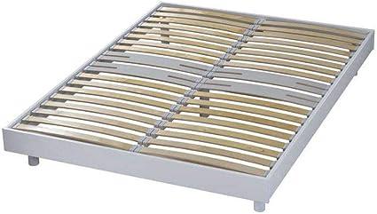 AltoBuy Somikit - Somier desmontable 120x190 blanco: Amazon ...