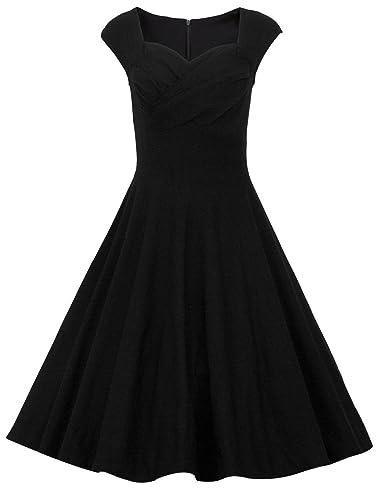 Dresstells Women 1950s Retro rockabilly dress Vintage Audrey Swing Dress