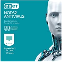 Deals on ESET NOD32 Antivirus 2021 1 Year / 5 PCs Digital