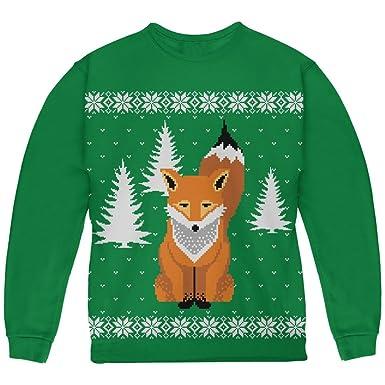 9ef1cf1b Amazon.com: Big Fox Ugly Christmas Sweater Green Youth Sweatshirt ...