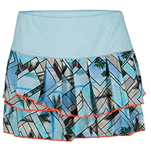 Lucky in Love Pleated Tier Skirt-Large-Frost print