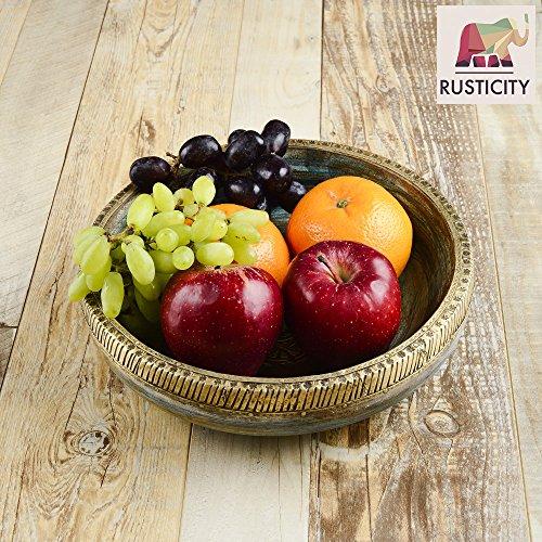 Review Rusticity Wood Decorative Bowl/Serving