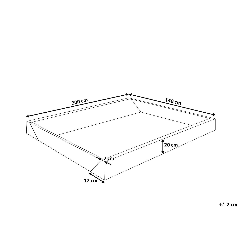 Bastidor de Espuma para Cama de Agua - Estructura para colchón de ...