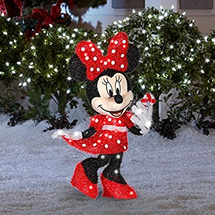 gemmy disney 256 ft minnie mouse outdoor christmas decoration - Mickey Mouse Christmas Lawn Decorations
