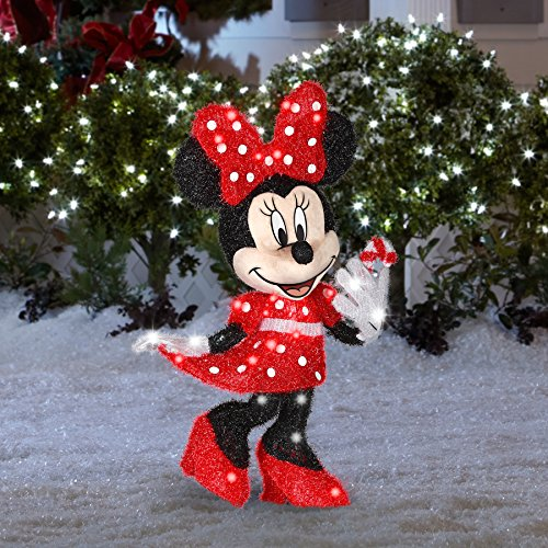 amazoncom gemmy disney 256 ft minnie mouse outdoor christmas decoration garden outdoor - Mouse Decorations Christmas