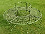 Antique Metal Iron Garden Patio Chair Bench Outdoor Decorative Full Tree Seat