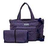 Marc by Marc Jacobs Crosby Nylon Quilted Diaper Bag (Blue Print)