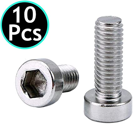Silver Bike Bicycle Water Bottle Cage Holders Bolts Screw M5 SET OF 2  NEW  USA