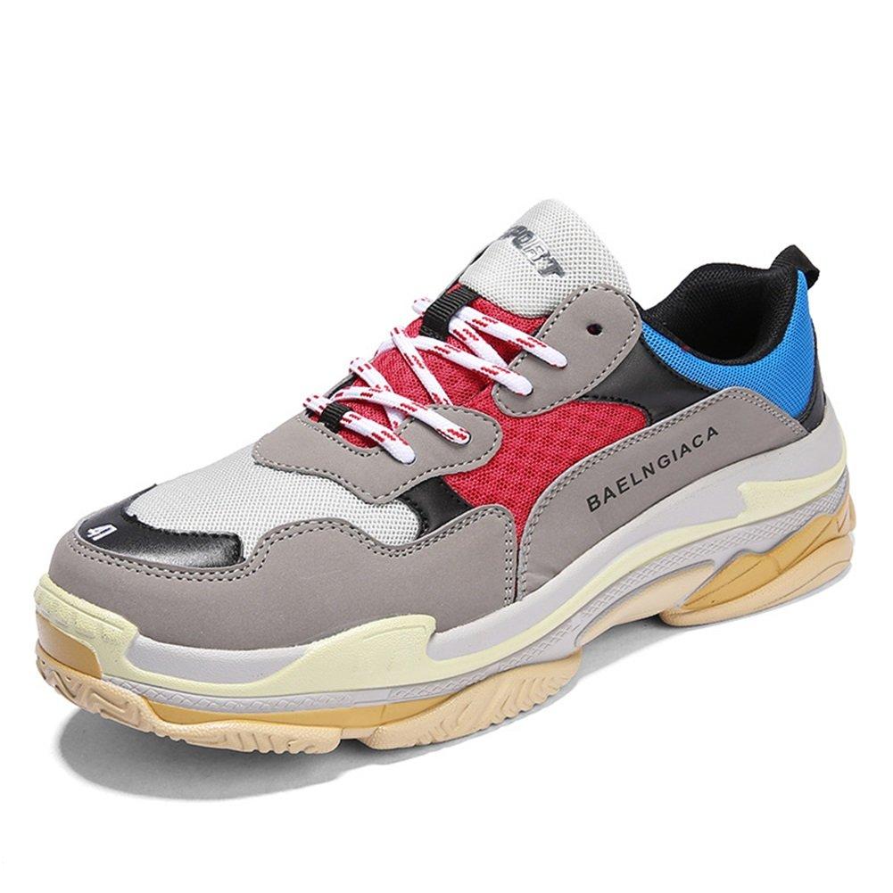 New Hombres/Mujeres de Gran Tamaño Mesh Layer Four Seasons Sneakers Running Zapatos de Gran Tamaño Heighten Shoes Lovers Ocio/Viaje/Zapatos para Caminar EU ...
