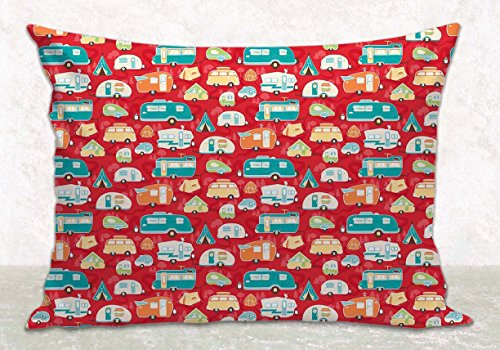 Red Pillow Cover - Cushion Cover - RV Camping Décor - Fits 16