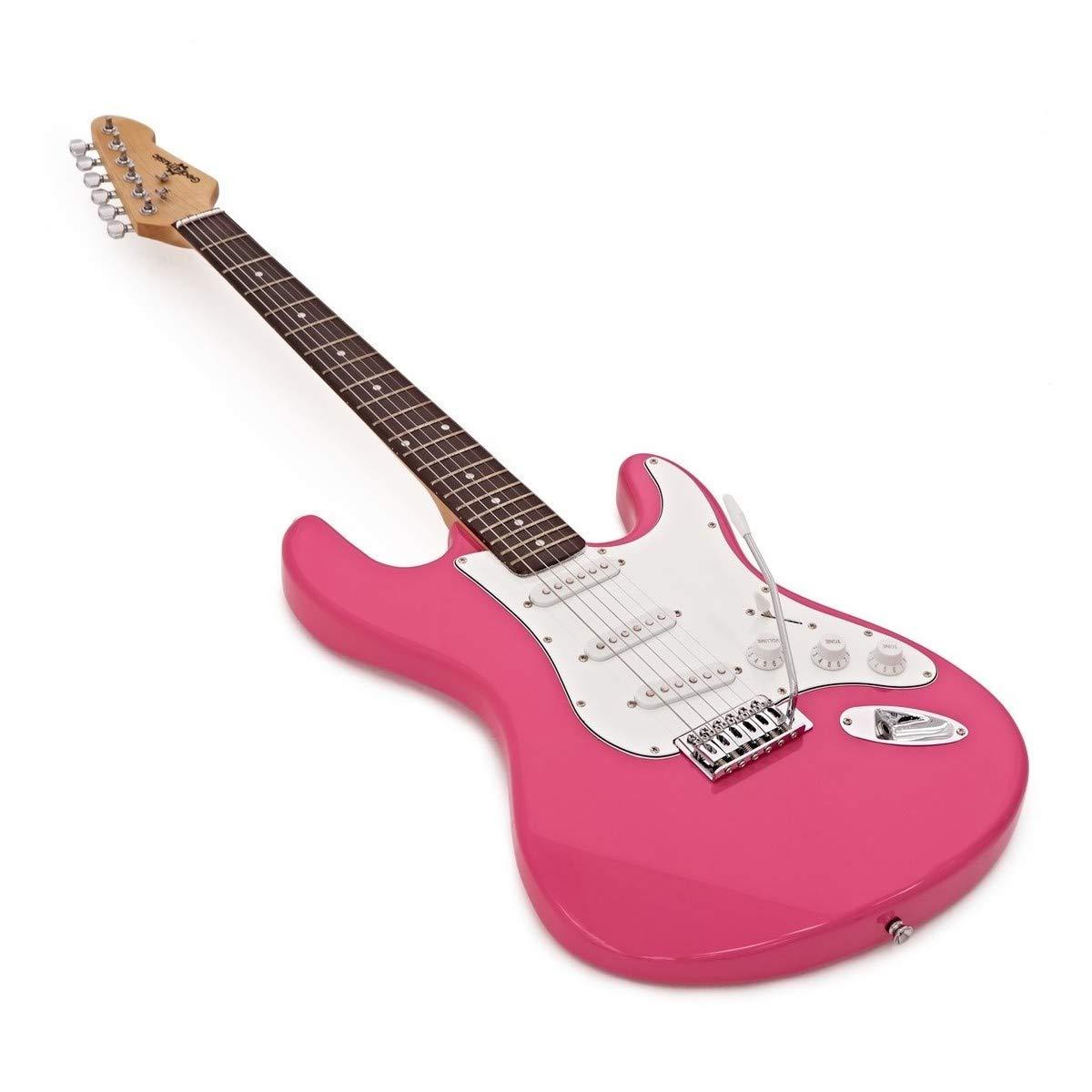 Guitarra Eléctrica LA + Paquete de Amplificador de 10 W Rosa: Amazon.es: Instrumentos musicales