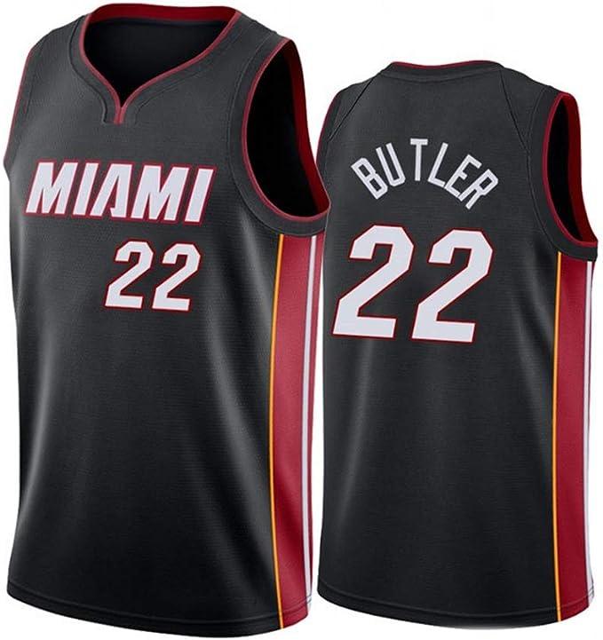 SHDG Camiseta de Baloncesto- # 22 Miami Heat No. 22 Butler Bordado ...