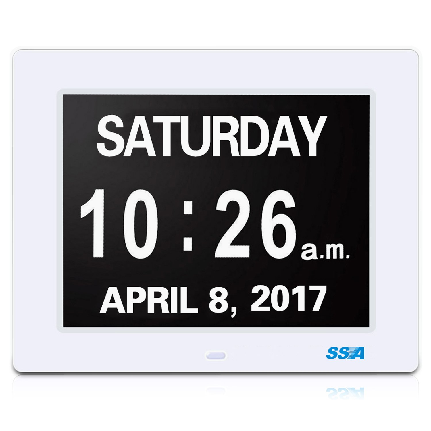 Digital Calendar.Details About Ssa Digital Calendar Day Clock With Large Clear Time Day And Date Display Wall