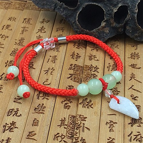 Burma jadeite jade transfer beads hand-woven red string bracelet boys and girls small jewelry factory direct (Jadeite Apparel)