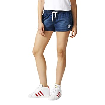 adidas Track Denim Shorts - medium Blue Denim, Größe 46  Amazon.de ... b36a5fdcb4