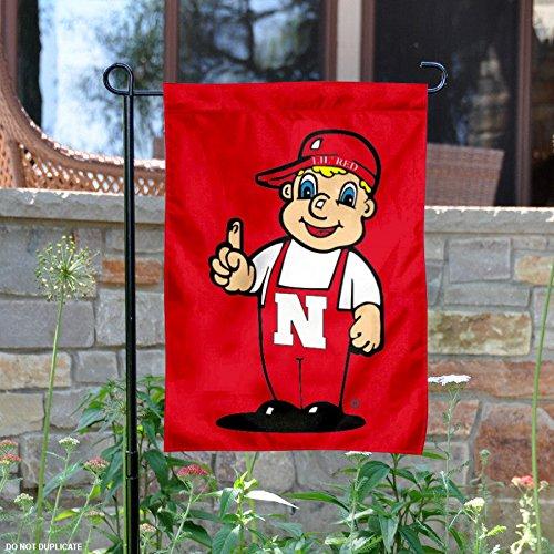 Nebraska Cornhuskers Lil Red Mascot Garden Flag