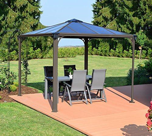 Palram Carpa jardín überdachung 295 x 295 cm Palermo Gazebo 3000 taupe aluminio nuevo: Amazon.es: Jardín