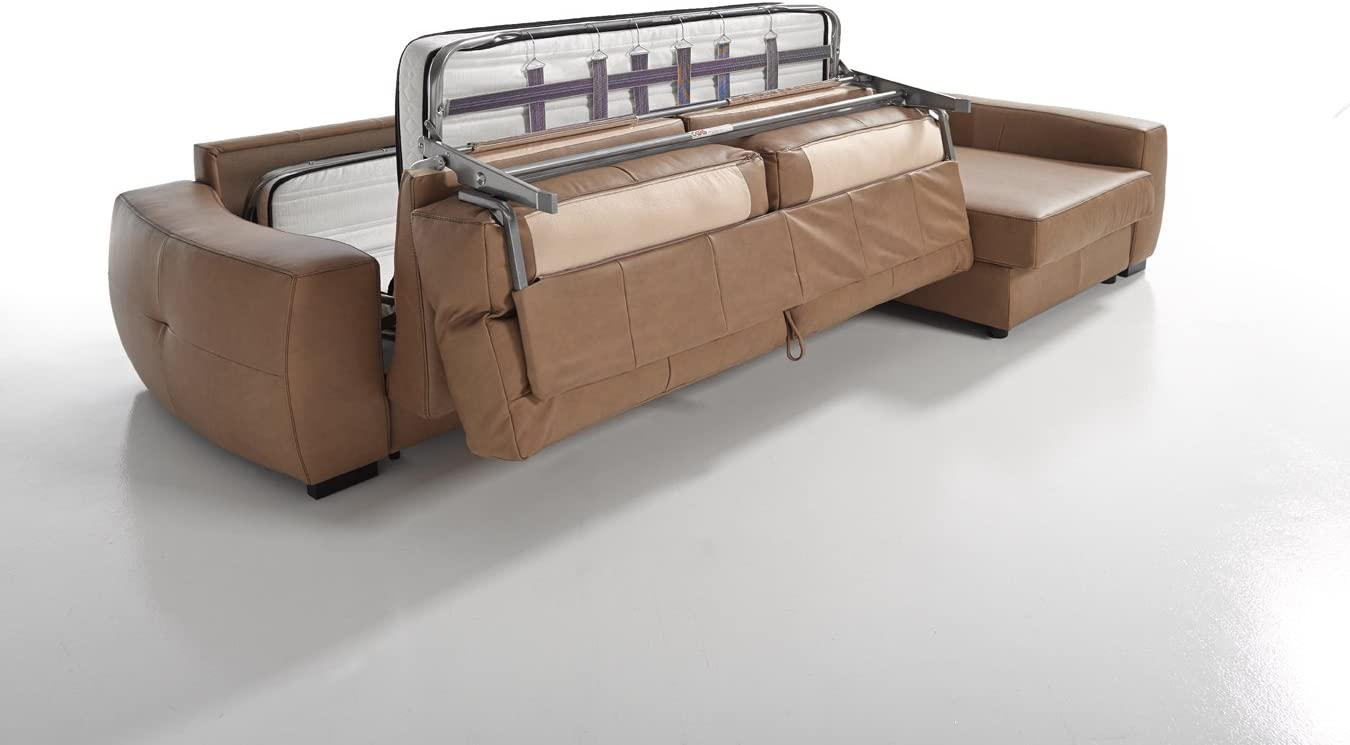Amazon.com: Roy piel Italiano Seccional sofá cama Sleeper ...