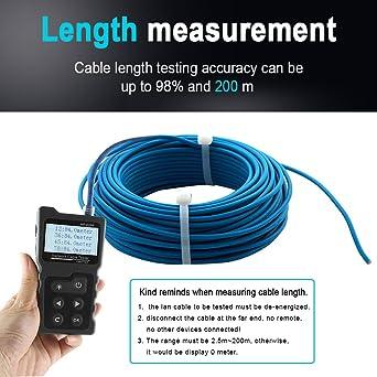 APROTII NF-8209 Pantalla LCD Longitud de medida Cable LAN POE Comprobador de cables Cat5 Cat6 LAN Prueba de red Herramienta de escaneo Cable Probador de mapas de alambre