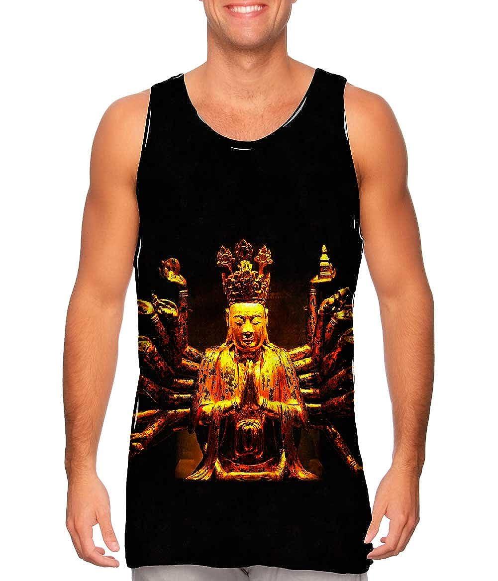 Yizzam Golden Buddha Statue Mens Tank Top TShirt