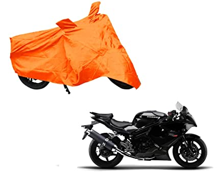 Auto Pearl - Premium Quality Orange Matty Bike Body Cover with Mirror  Pockets Buckle Belt for - Hyosung GT650R