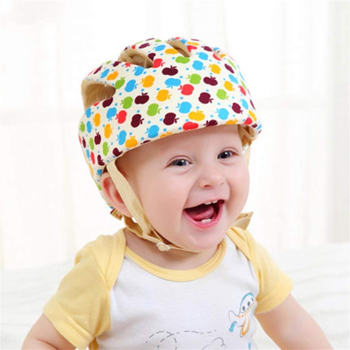 Laurelmartina Cascos de Seguridad para beb/és Sombrero de protecci/ón Infantil de algod/ón Protector para la Cabeza para reci/én Nacidos Ni/ños Ni/ñas Sombrero antichoque a Prueba de choques