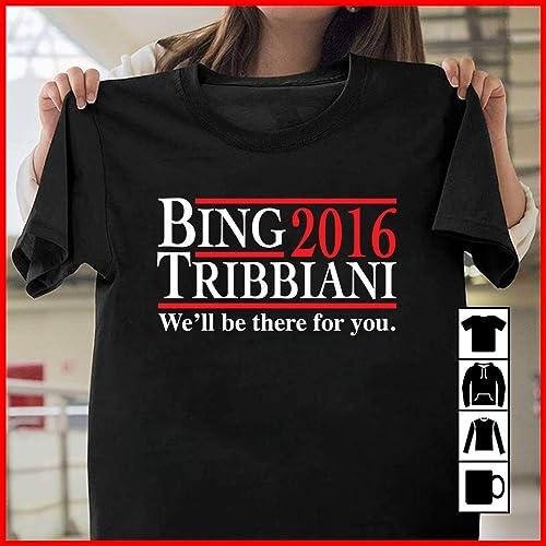 79b8ddb4 Amazon.com: Bing Tribbiani We'll Be There For You T Shirt Long ...