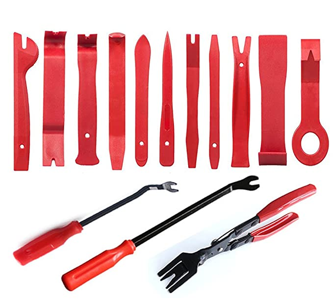 Amazon.com: Deezio 14 Pcs Auto Trim Removal Tool Set Premium Fastener Removers Door Panel Tool Kit Pry Bar Tool: Automotive