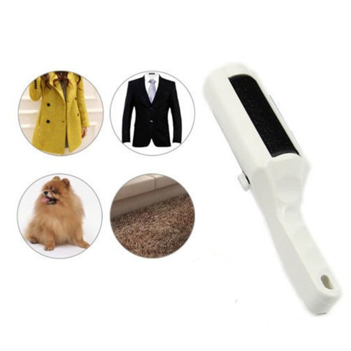 Clothes Coat Sticky Remove Lint Roller Pets Hair Cleaner Dust Brush Sweeper ECYC