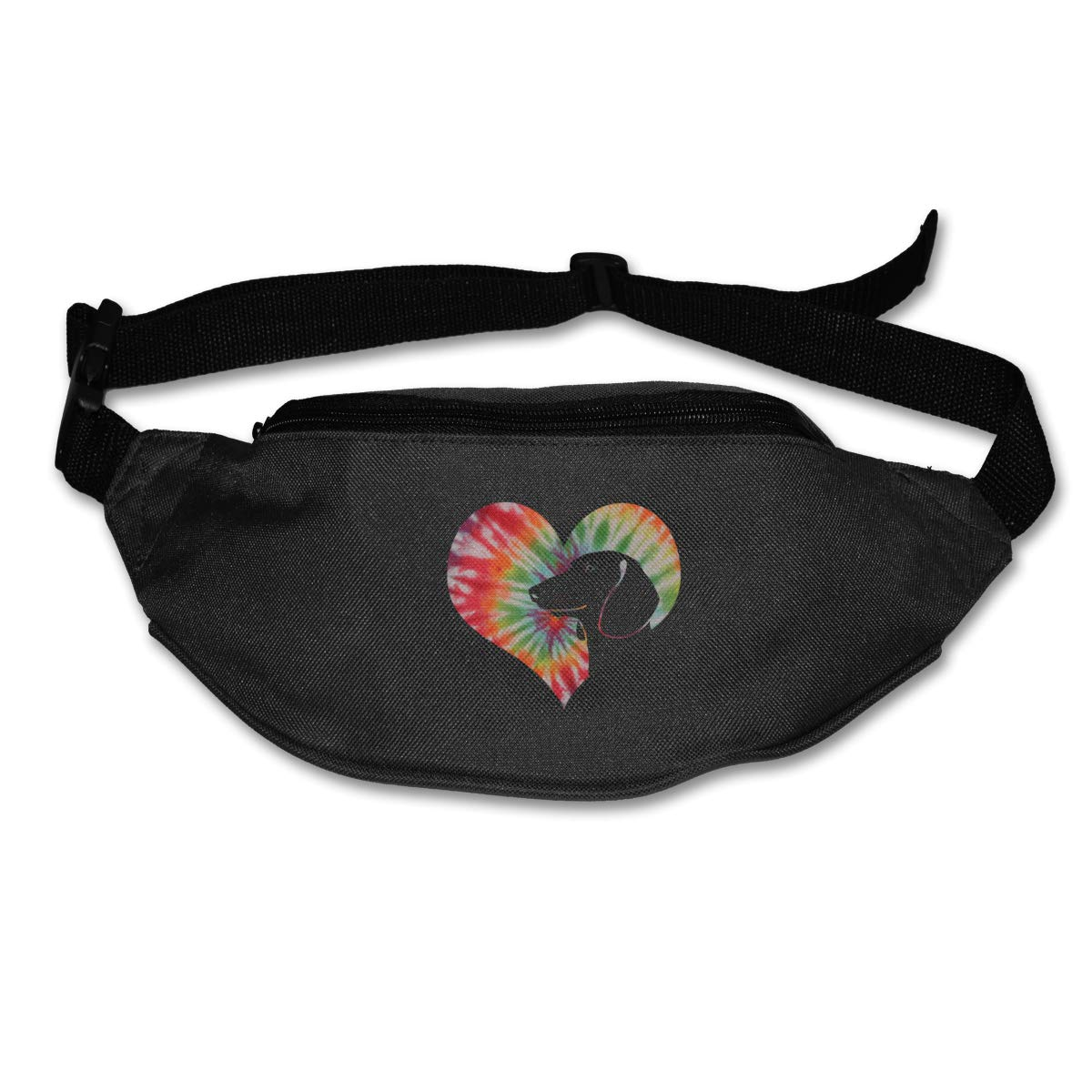 Tie Dye Dachshund Sport Waist Packs Fanny Pack Adjustable For Run