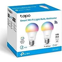 TP-Link Tapo- Bombilla LED Inteligente, Bombilla WiFi, Multicolor, Regulable, E27, 8.7W 806lm, Compatible Alexa, Echo y…