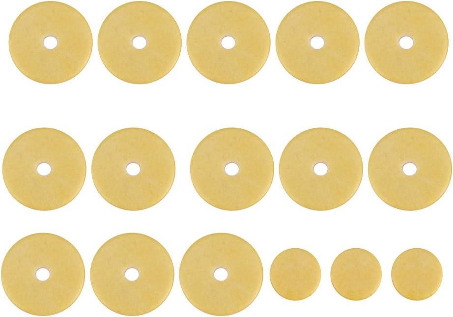 Bnineteenteam 16 Pezzi di Feltro Materiale pastiglie per Flauto Set di pastiglie a Foro Aperto per Flauto Grande Parte di Ricambio per Flauto