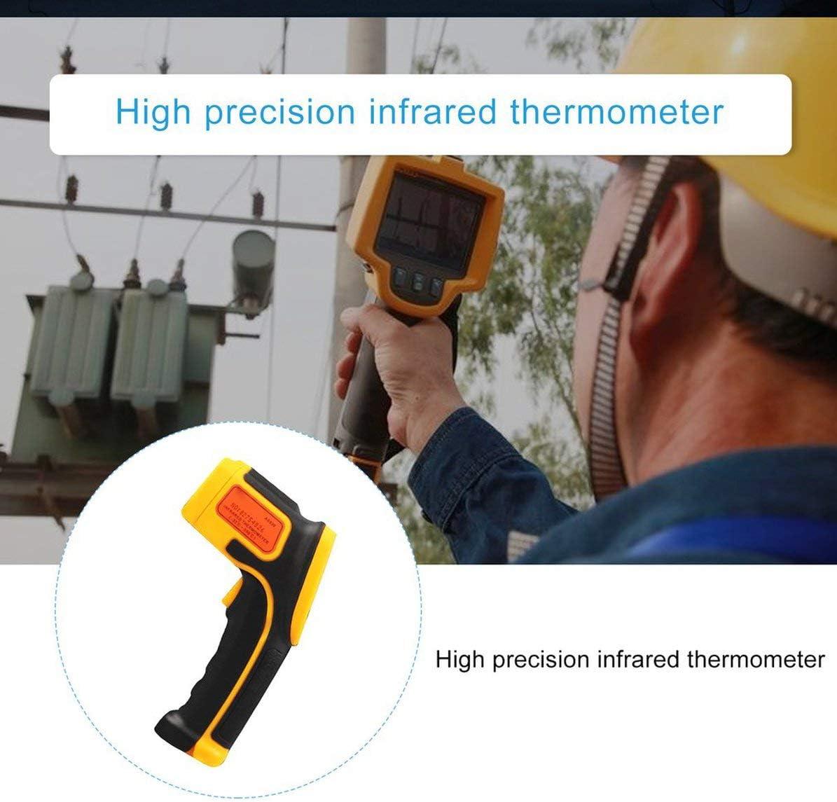 LONGSPEED Thermom/ètre infrarouge Faible consommation d/énergie LCD R/étro-/éclairage Affichage Fonction de maintien des donn/ées Affichage des caract/ères laser 1 jeu