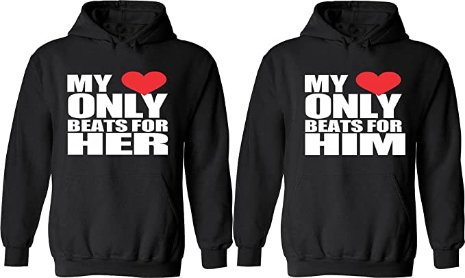 My Heart Beats For Him and Her couple hoodies hoodies Sweatshirt Couple Hoodie High Quality 8HpbvEZLp