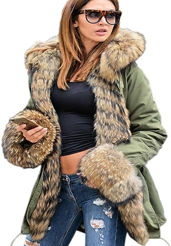 WOMENS TOP CAMOUFLAGE JACKET HOODED WINTER  PARKA FASHION LONG COAT OUTWEAR