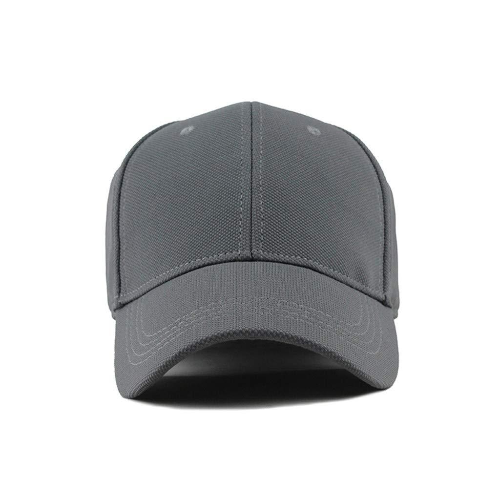 YEZIJIN Unisex Outdoor Cotton Solid Color Baseball Caps Adjustable Hat 2019 New Summer Sun hat
