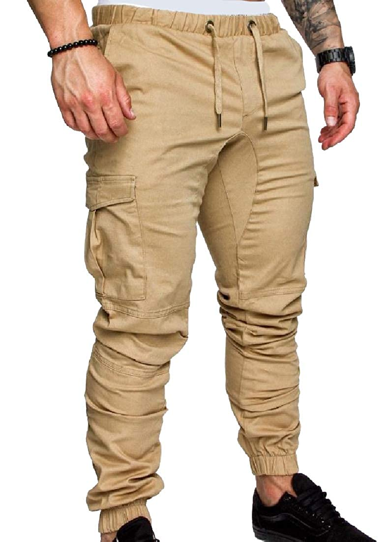 Unastar Mens Relaxed-Fit Messenger Cargo Work Beam Foot Trousers