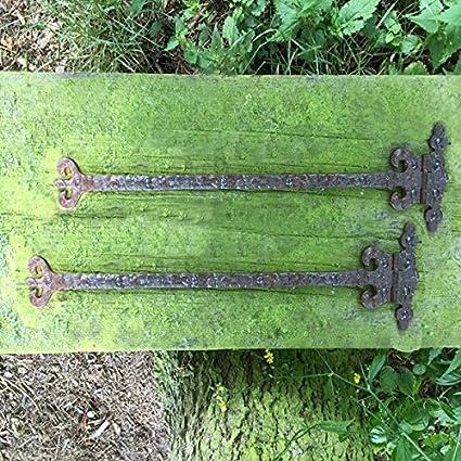 11,5 cm Antik Bandes coffres Charnières Antique Garnitures caisse macfield