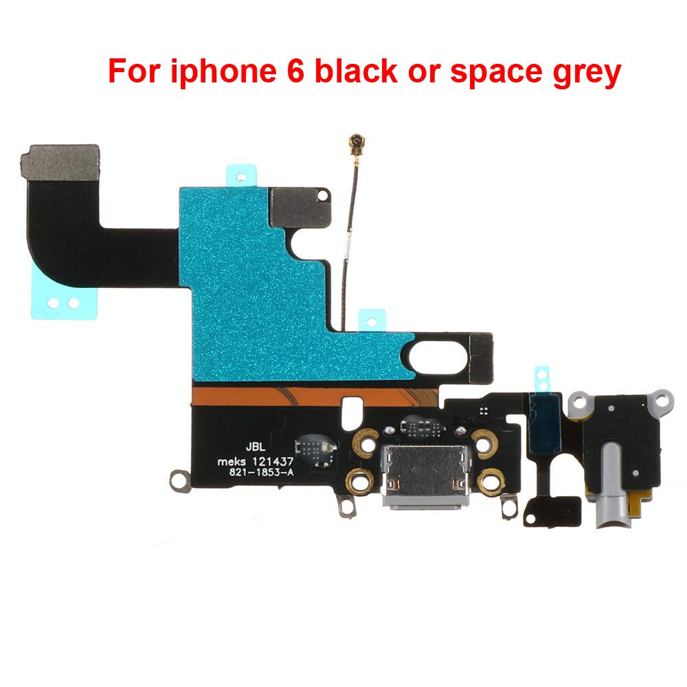 Puerto de Carga para iPhone 6 4.7 Black Space Gray